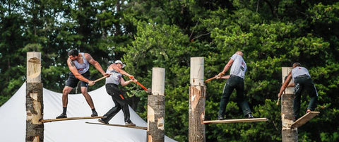 Lumberjack World Championships - Chopping competition in Hayward, WI