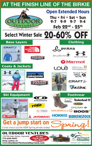 Outdoor Ventures Birkie Week Information, Brands & Sales