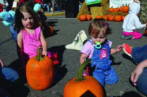 Kids Pumpkin Decorating Contest at Hayward Fall Festival