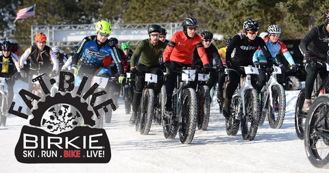 Fat Bike Birkie - on snow fat tire bike race in March on the American Birkebeiner xc ski trail