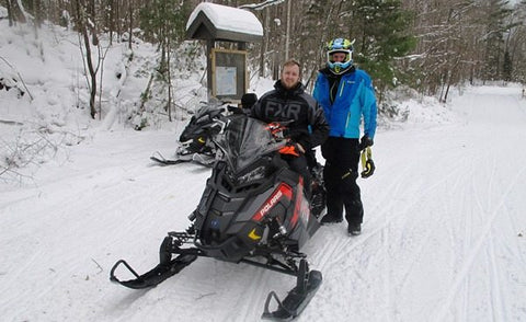 Snow Goer Crew enjoying Hayward WI Snowmobile Trails