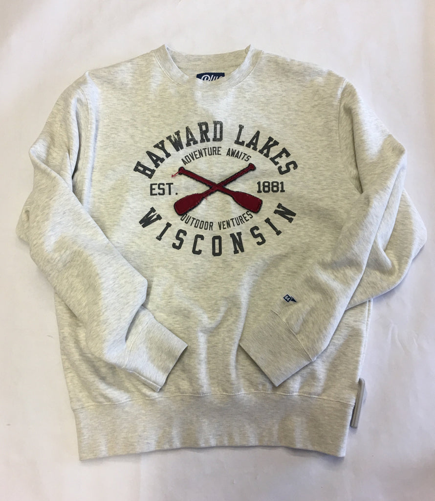 Hayward Duty Free Adventure Awaits Cross Paddle Crew Neck Sweatshirt