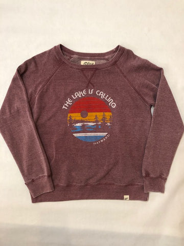 The Lake Is Calling Hayward WI Crew Neck