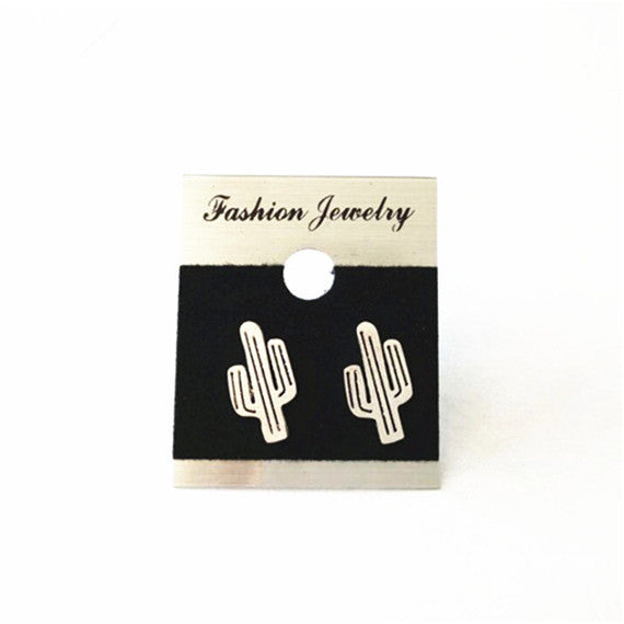 Cacti Desert Stud Earrings