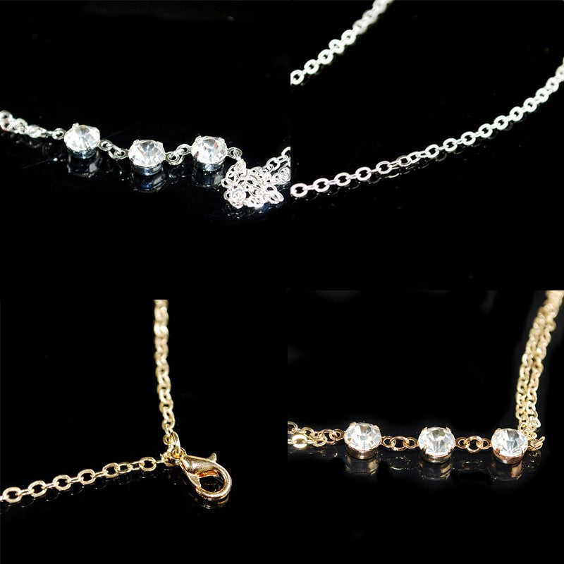 Crystal Ball Body Chain Necklace