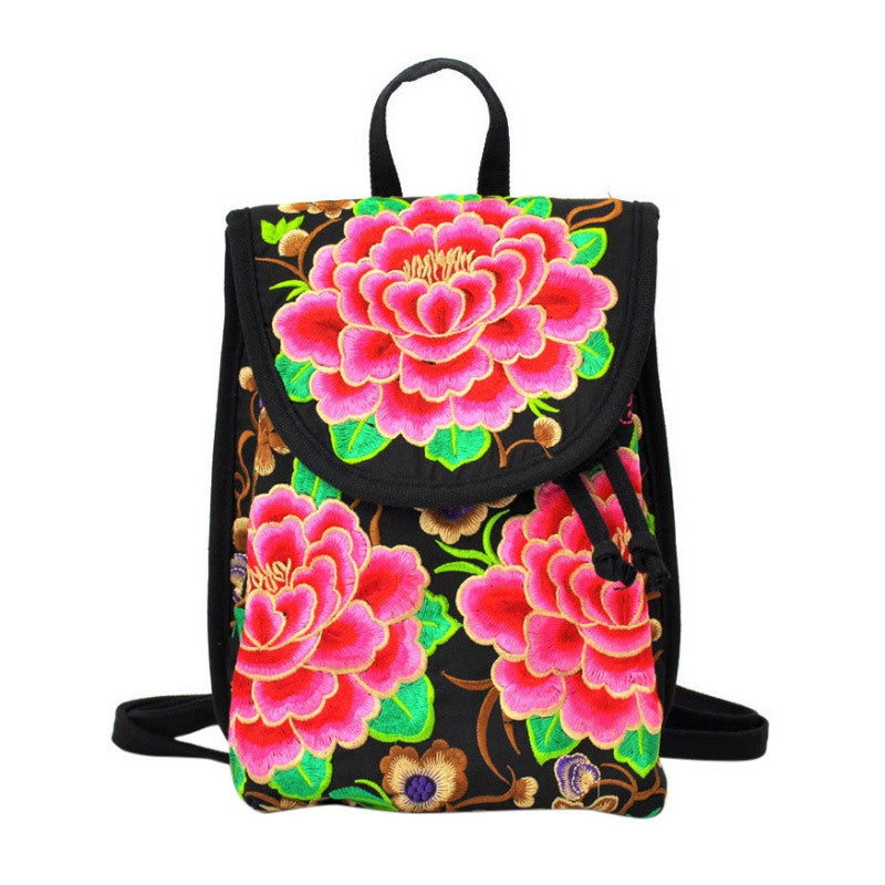 The Wanderer Floral Embroidered Backpack