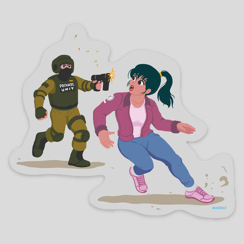 Rebel vs. Agent Sticker