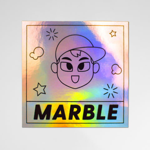 MARBLE Logo Holographic Sticker