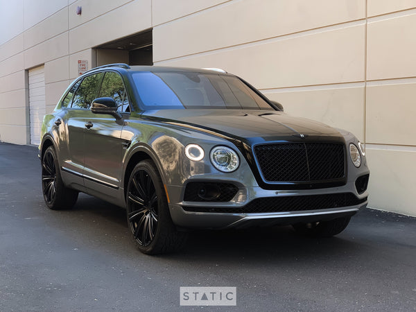 2017 Bentley Bentayga - Two Tone Vinyl Wrap Avery SW900 Gloss Dark Gray & Gloss Black