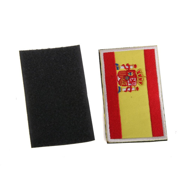 Spain Spanish Flag Tactical Embroidery Hook Loop Fastener Badge