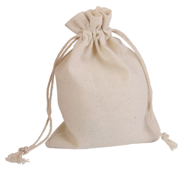 Lot of 10 Linen Jute Sack Jewelry Pouch Drawstring Gift Bags Wedding Favour