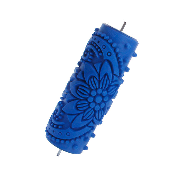 15cm Flower Embossed Painting Roller Tool for DIY Wall Decoration
