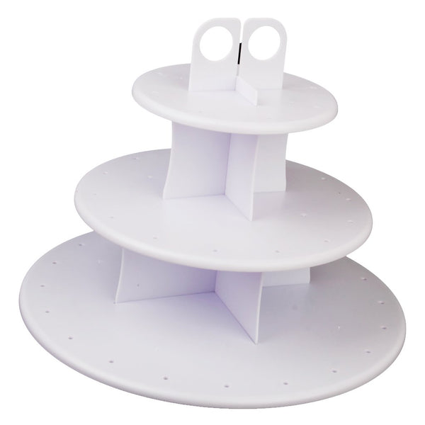 3-Tier 42 Holes Plastics Cake Pop Lollipop Cupcake Display Stand