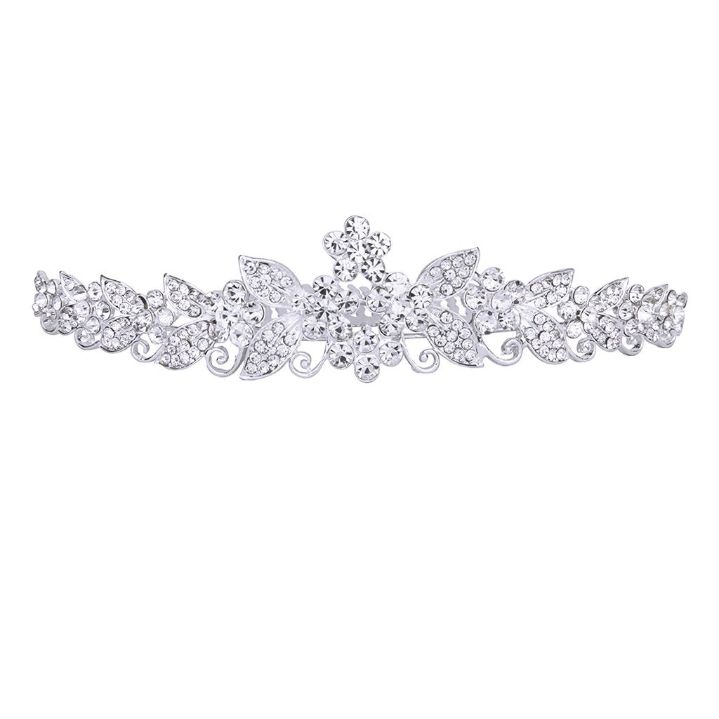 MagiDeal Bride Bridesmaids Crystal Tiara Rhinestone Crown w/ Comb Pin for Wedding Party - MagiDeal