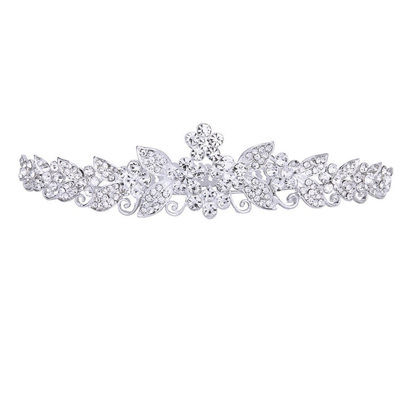 Bride Bridesmaids Crystal Tiara Rhinestone Crown w/ Comb Pin for Wedding Party