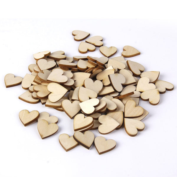 Basswood Blank Peach Heart Embellishments for DIY Crafts 40mm 50pcs