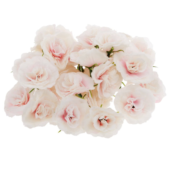 50x Artificial Faux Silk Rose Flower Heads Bulk Wedding Party Decor Pink WHT