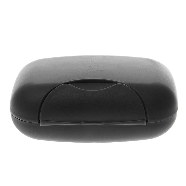 Plastic Soap Case Box Holder Dish Container for Travel Black