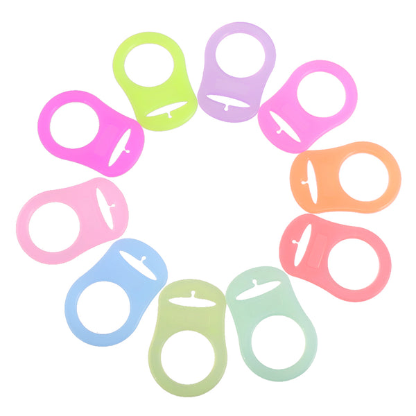10pcs Silicone Button Ring Dummy Pacifier Holder Clip Adapter Multi