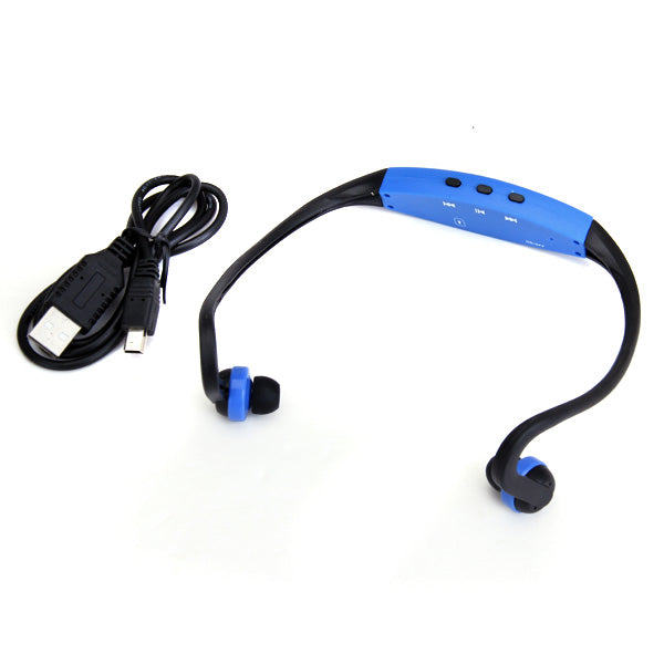 MagiDeal Sport MP3 Player Wrap Around Wireless Hands-free Headphones (Blue) - MagiDeal