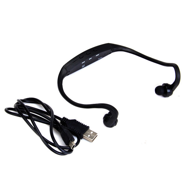 MagiDeal Sport MP3 Player Wrap Around Wireless Hands-free Headphones (Black) - MagiDeal