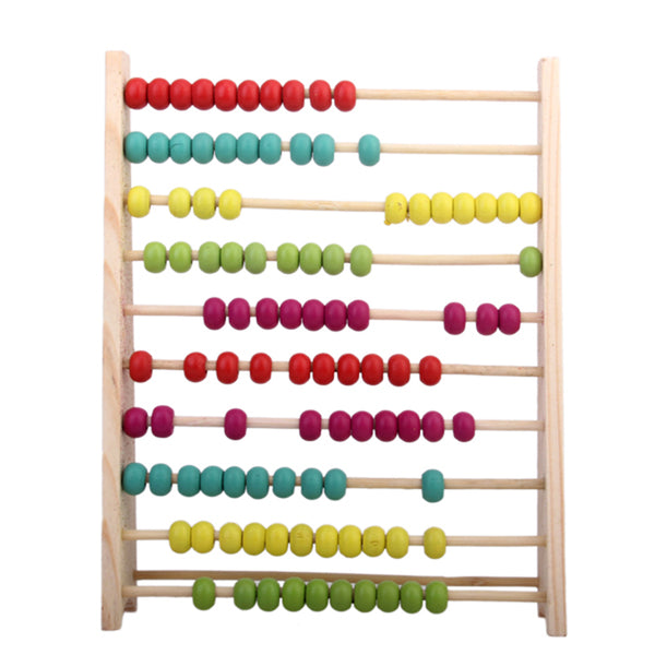 MagiDeal Abacus Classic Wooden Toy, Kids Toddlers Developmental Toy, Brightly-Colored Wood Beads, 12.2inch H x 8inch W x 10.4inch L - MagiDeal