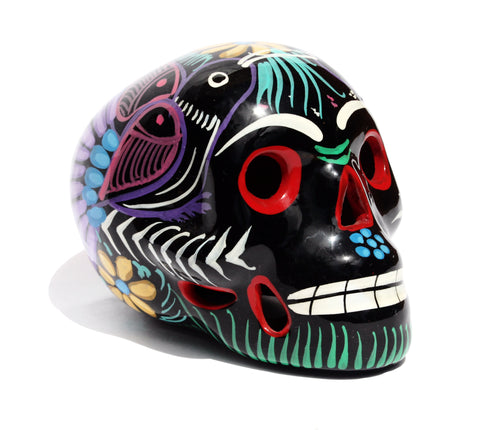 Black Mexican Ceramic Skull