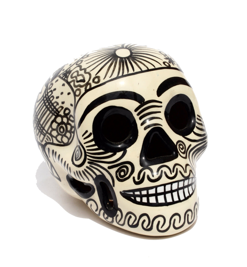 White Mexican Ceramic Skull