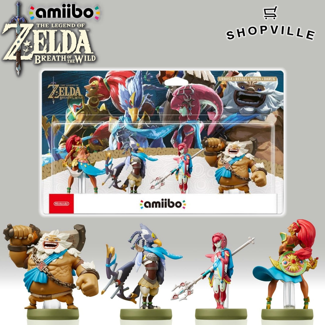 The Legend of Zelda: Breath of the Wild Champions Amiibo 4-Pack Giveaway