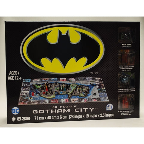 4D Cityscapes 4D Puzzle of Gotham City [Puzzle, 839 Piece]