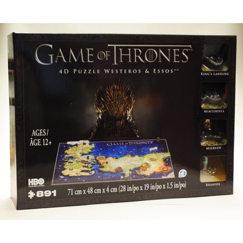 4D Cityscapes Game of Thrones 4D Puzzle of Westeros & Essos [Puzzle, 891 Piece]