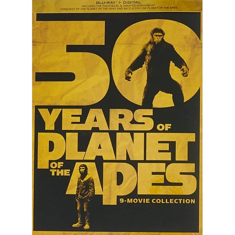 50 Years of Planet of the Apes - 9-Movie Collection [Blu-Ray Box Set]