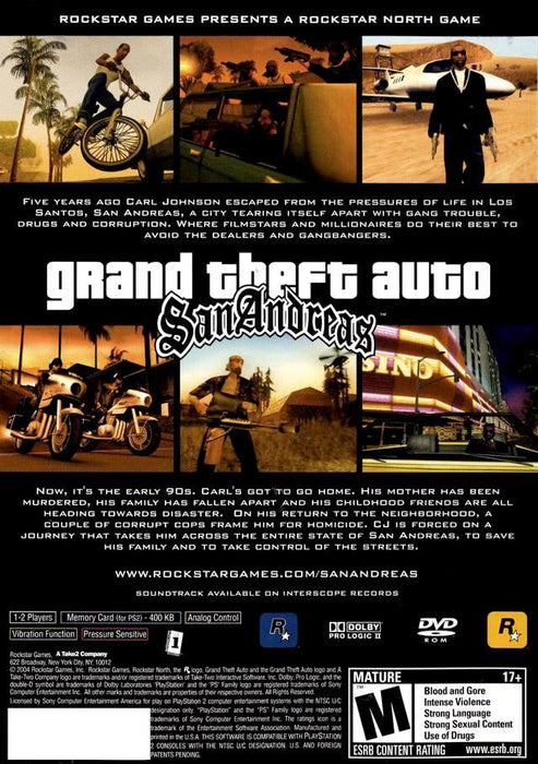 Grand Theft Auto: San Andreas [PlayStation 2]