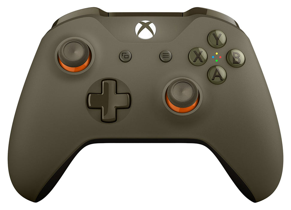 Xbox One Wireless Controller - Green-Orange Camo [Xbox One Accessory]