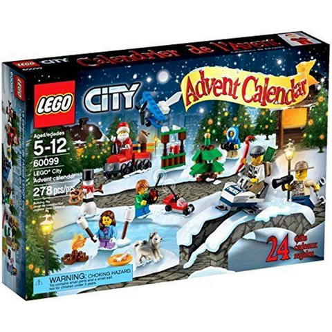 LEGO City Town 278 Piece Advent Calendar Building Kit [LEGO, #60099, Ages 5-12]