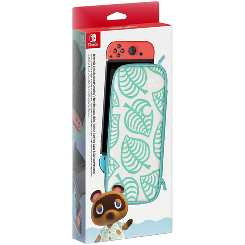 Animal Crossing: New Horizons Aloha Edition - Carrying Case & Screen Protector [Nintendo Switch Accessory]