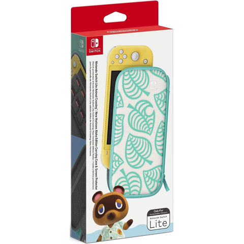 Animal Crossing: New Horizons Aloha Edition - Carrying Case & Screen Protector [Nintendo Switch Lite Accessory]