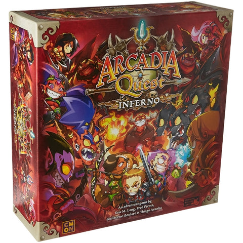 Arcadia Quest: Inferno [Board Game, 1-4 Players]
