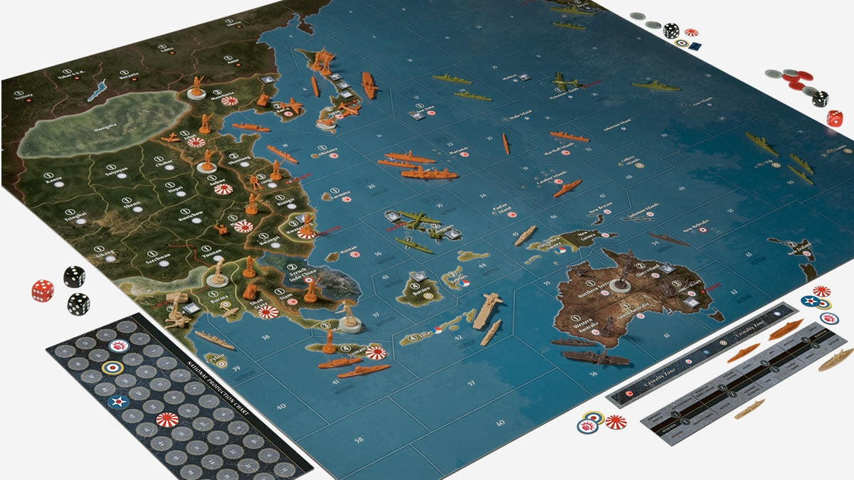 Axis & Allies Pacific 1940 [Board Game, 2-4 Players]