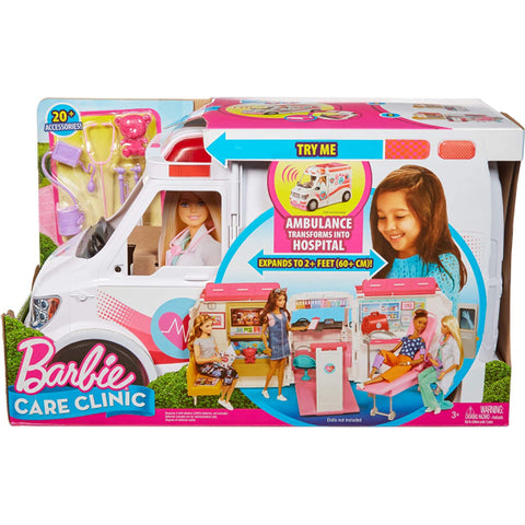 Barbie Care Clinic - Ambulance and Hospital Playset [Toys, Ages 3+]