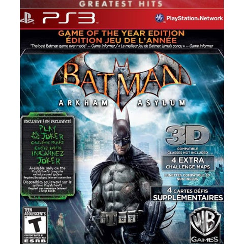 Batman: Arkham Asylum - Game of the Year Edition [PlayStation 3]