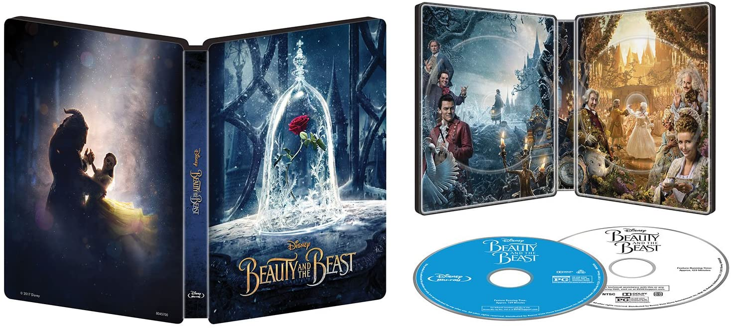 Disney's Beauty and the Beast Live Action - Limited Edition Collectible SteelBook - Best Buy Exclusive [Blu-ray + DVD + Digital]