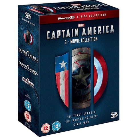 Marvel's Captain America: 3-Movie Collection [3D  Blu-Ray Box Set]