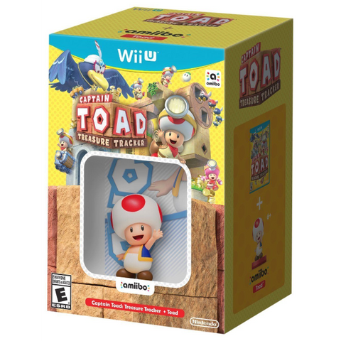 Captain Toad: Treasure Tracker + Toad Amiibo [Nintendo Wii U]