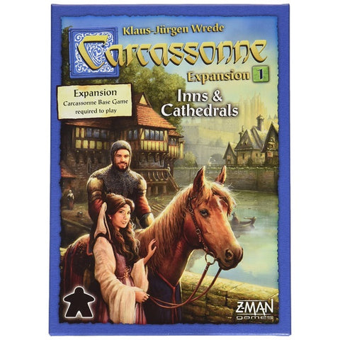 Carcassonne: Expansion 1 – Inns & Cathedrals [Board Game, 2-6 Players]