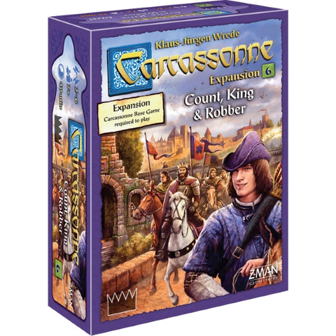 Carcassonne: Expansion 6 - Count, King & Robber [Board Game, 2-6 Players]