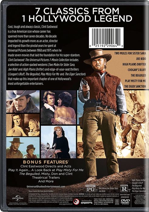 Clint Eastwood: The Universal Pictures 7-Movie Collection [DVD Box Set]