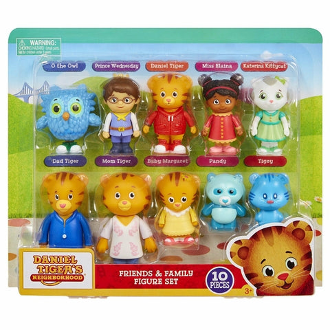Daniel Tiger's Neighborhood - Friends and Family 10 Piece Figure Set [Toys, Ages 3+]