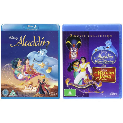 Disney's Aladdin + Aladdin: The King Of Thieves & The Return Of Jafar [Blu-Ray 3-Movie Collection]