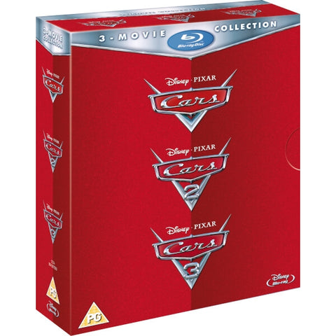 Disney's Cars / Cars 2 / Cars 3 [Blu-Ray 3-Movie Collection]
